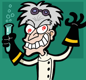 Mad scientist caricature 2