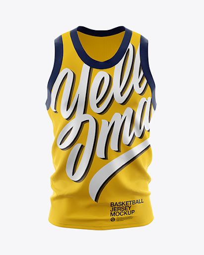 Download Basketball Jersey Front View Jersey Mockup PSD File 215.33 MB