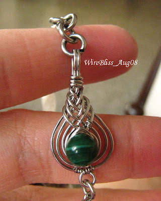 Wire Wrapped Kissing Pipas and Clasp