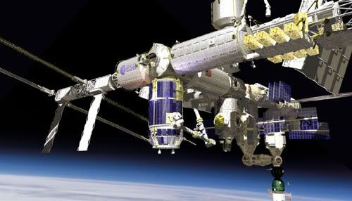 An artist's rendition of the completed ISS.