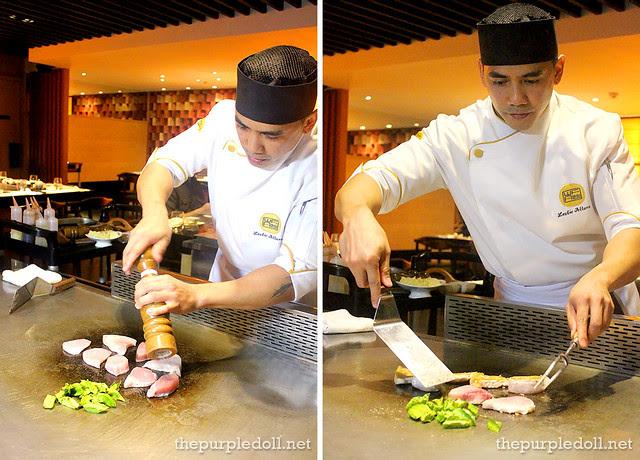 Chef Leslie Altura Cooking Teppanyaki