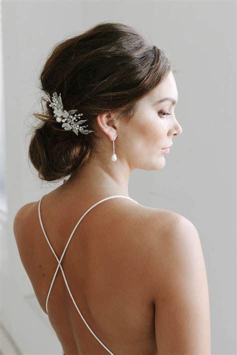 ALESSIA   silver floral bridal comb   TANIA MARAS