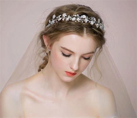 Bridal Floral Hair Vine Tiara Rhinestone, Headpiece