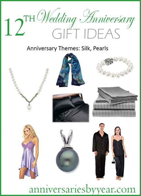 12th Anniversary   Twelfth Wedding Anniversary Gift Ideas