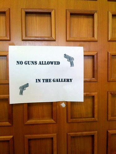 NO GUNS IN THE SENATE