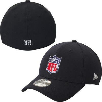 Mens NFL New Era Black Shield 39THIRTY Flex Hat  NFLShop.com