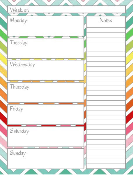 1000+ ideas about Weekly Planner Printable on Pinterest   Weekly ...