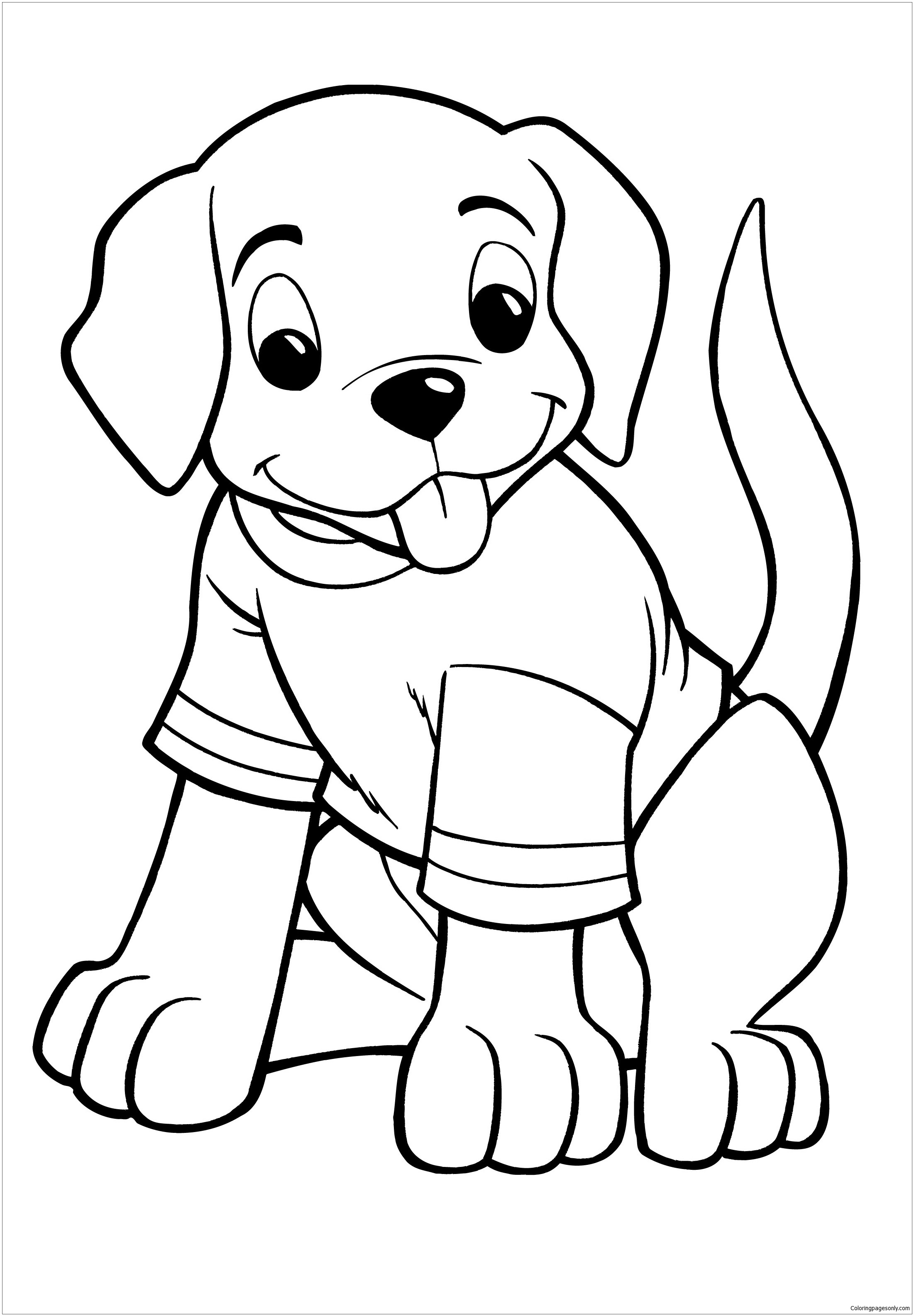 Great Puppy Coloring Page - Free Coloring Pages Online