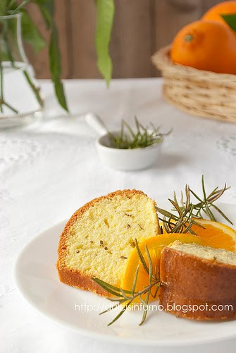 Torta all'Arancia e Rosmarino-Orange and Rosemary Cake