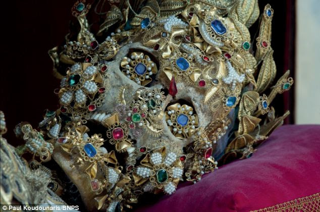 St Benedictus: Thousands of skeletons were dug up from Roman catacombs in the 16th century and installed in towns around Germany, Austria and Switzerland on the orders of the Vatican
