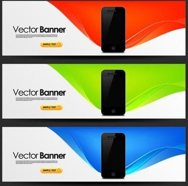 Mobile Banner Design Trend Pattern Vector Free Vector Download