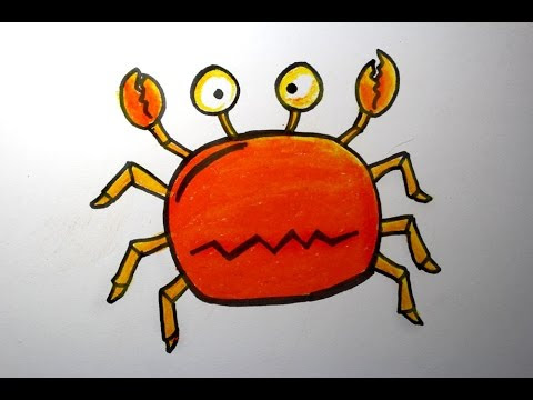 Drawing Idea For Kids Crab Oil Pastels Playingitnow All The