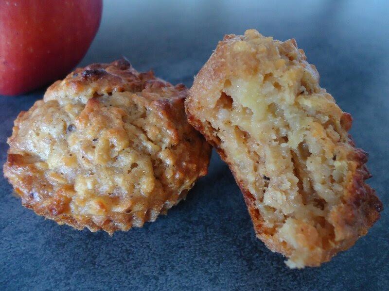 muffins aux pommes, flocons d'avoine et sirop d'agave 2