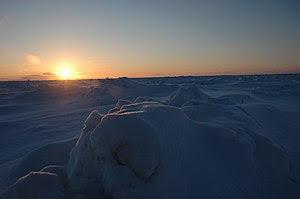 English: Frozen Bering Sea near Nome/Alaska