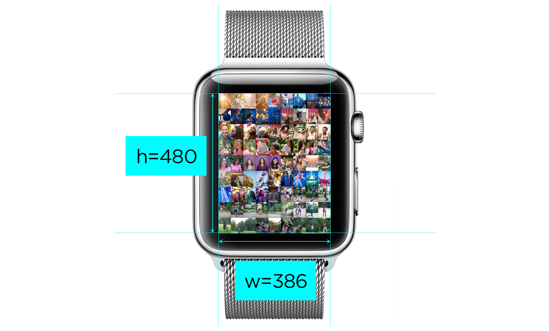Hey! What  s the Apple Watch Screen Resolution?   Josh