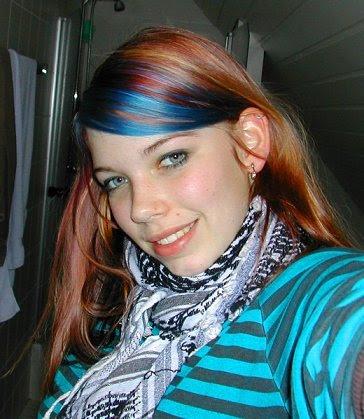 Blaue Strähne 2