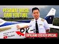 Vincent Raditya, seorang youtuber yang berhasil membeli pesawat.