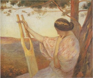 Henri-Martin-xx-Lady-with-Lyre-by-Pine-trees (1)
