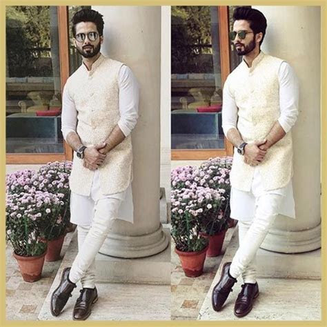 Shahid Kapoor in white kurta and churidar by Tisa Studio