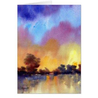 Morning Dawn in Watercolour Card card