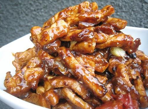 eatingclub vancouver: Stir-fried Pork with Black Bean Sauce
