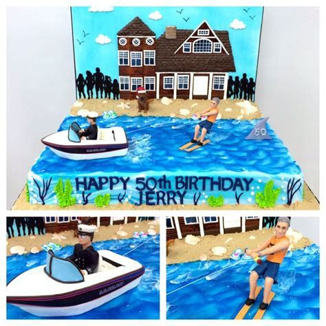Water ski themed 50th birthday cake #carlosbakery   Happy