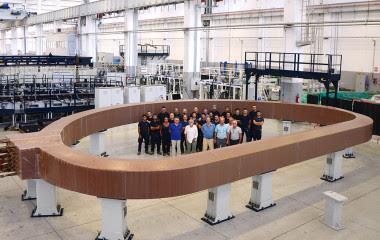<p>El imán mide 13 m de largo, 9 m de ancho y pesa unas 300 toneladas, tanto como un Boeing 747. / F4E/ITER</p>