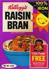 Raisin Bran Little People box
