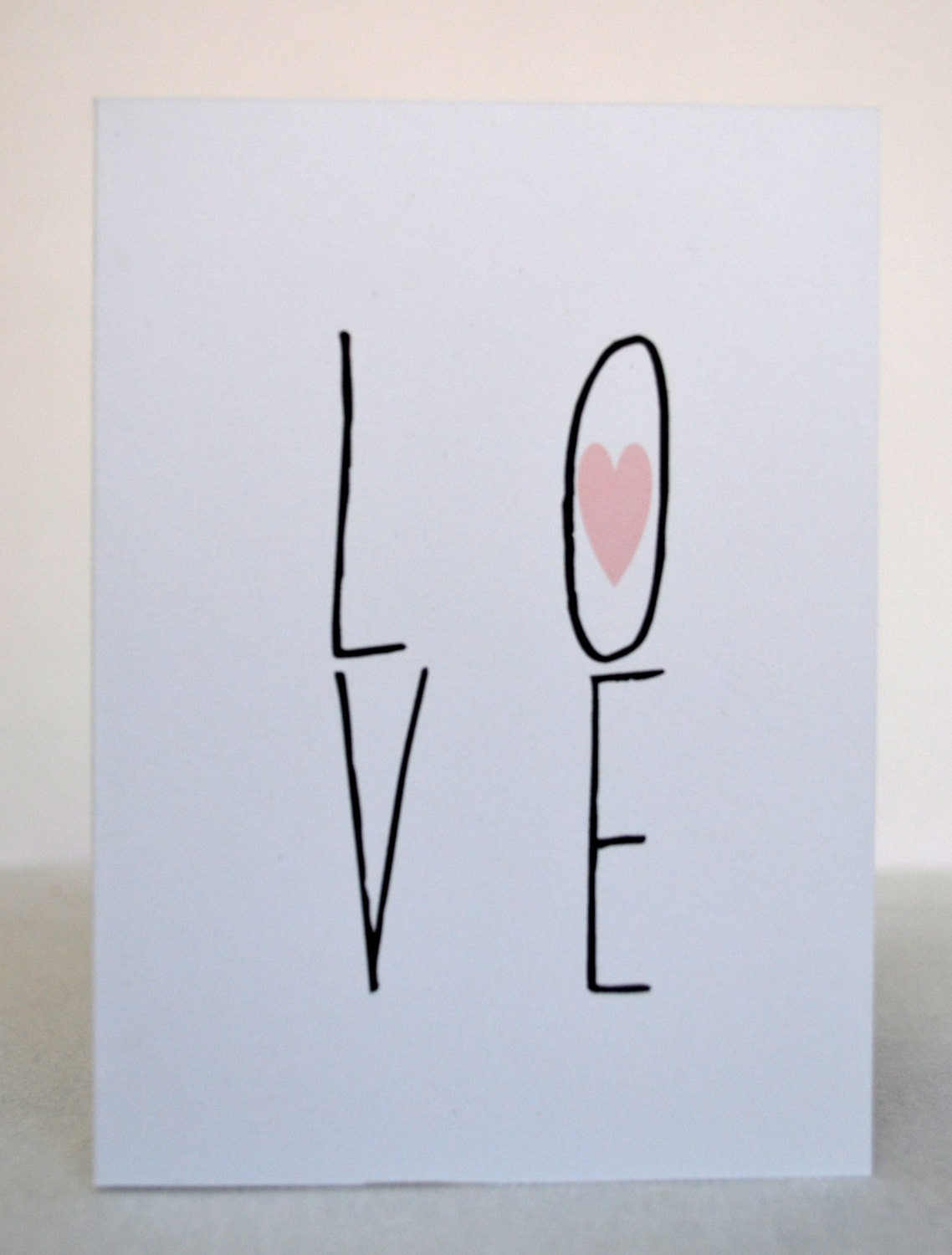 Greeting Cards -  LOVE - Valentine's Day Card - Stationery