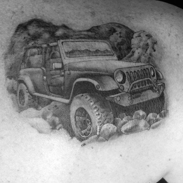 Tatuagem Masculina Ideias Jeep Temático