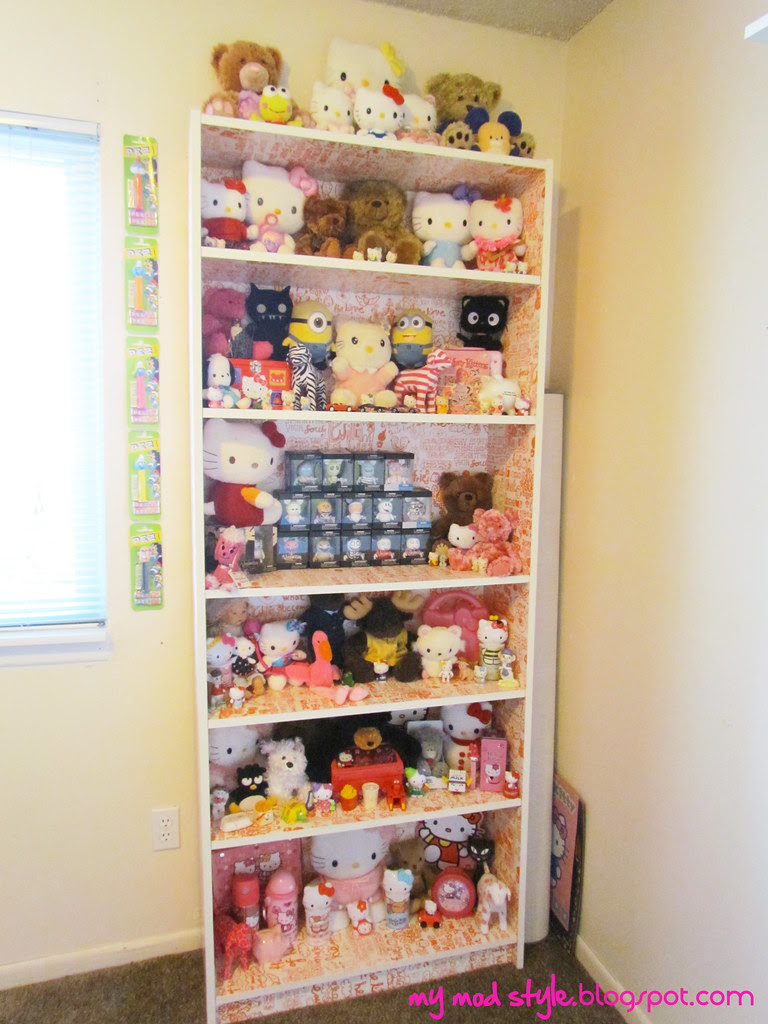 Billy Bookcase with Hello Kitty
