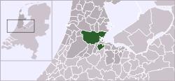 Localização de Amsterdão