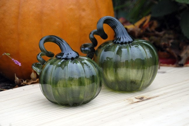Handblown Pumpkins, Sparkly Fresh