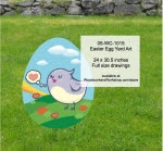 Easter Egg Yard Art Woodworking Pattern - fee plans from WoodworkersWorkshop® Online Store - birds,tweets,twitter,easter eggs,yard art,painting wood crafts,scrollsawing patterns,drawings,plywood,plywoodworking plans,woodworkers projects,workshop blueprints