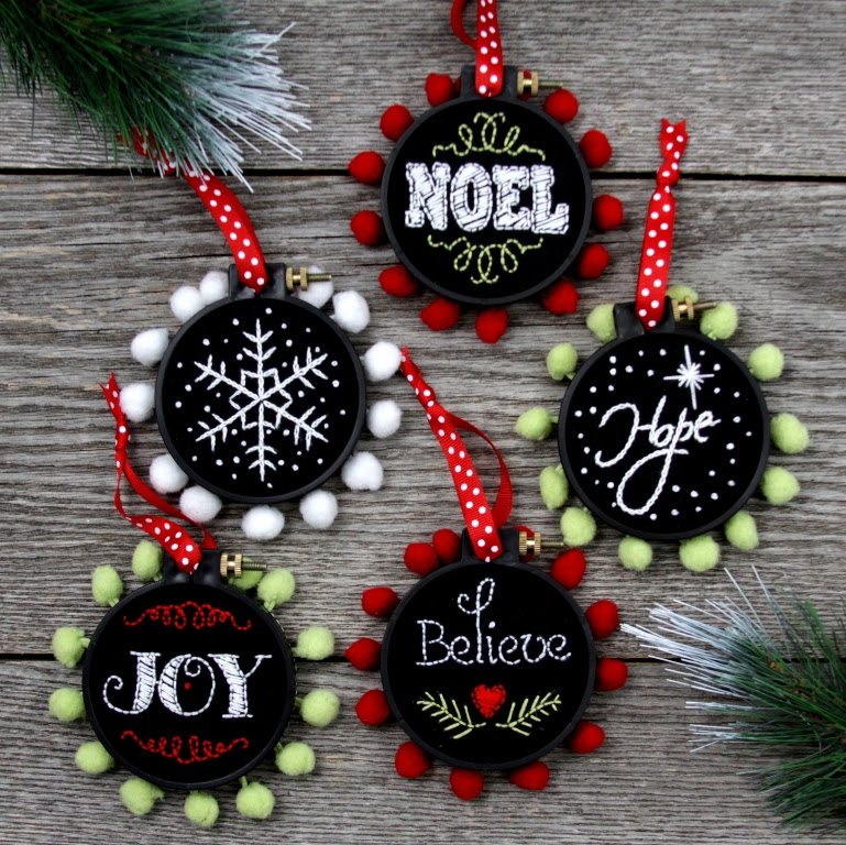 Crafternoon Chalk Ornaments