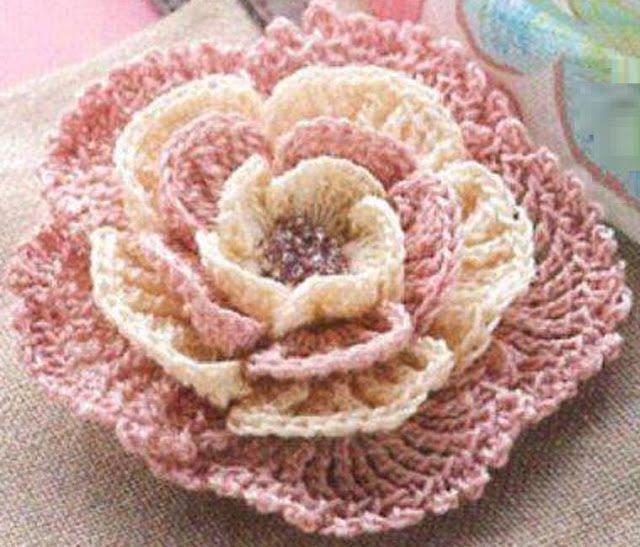 Falando de Crochet - Gráficos: FLOR DE CROCHET - COM MISSANGUINHAS
