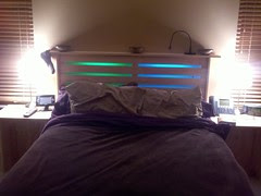My Headboard With LED Ligthing