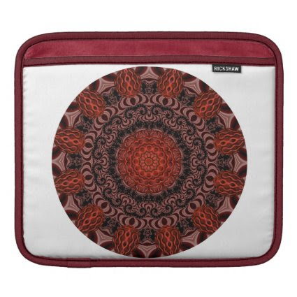 Chocolate and Strawberries Mandala, Abstract iPad Sleeve
