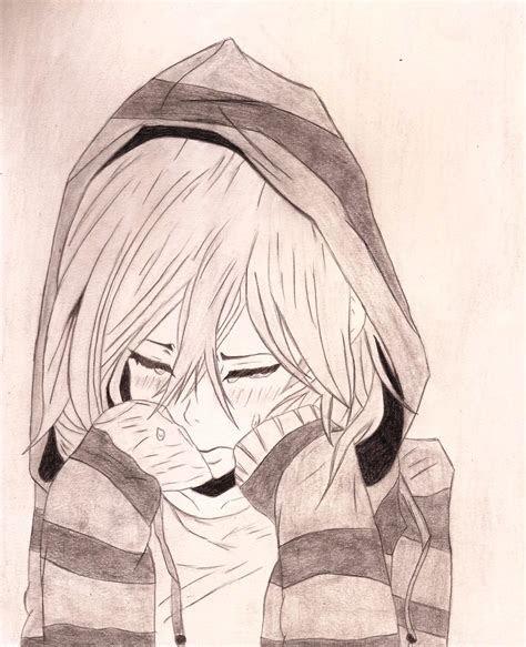 sad anime drawing  getdrawingscom   personal