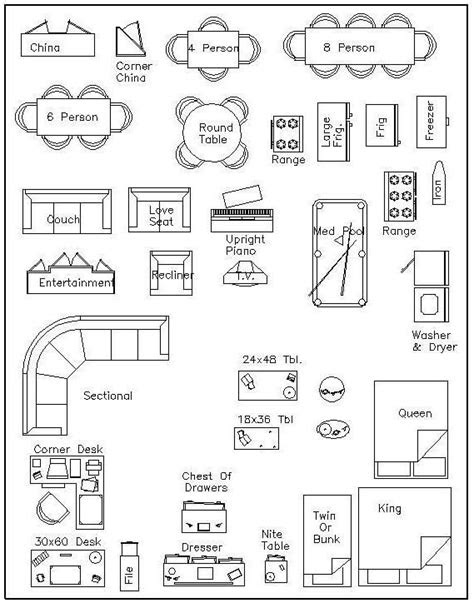 Free Printable Furniture Templates | furniture template