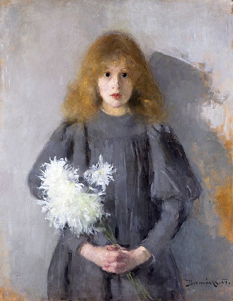 Plik:Boznańska Girl with chrysanthemums.jpg