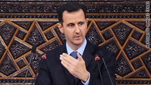 The new sanctions against top members of the regime of Syrian President Bashar al-Assad.