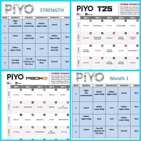define    piyo workout schedule piyo