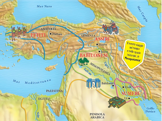 Cartina Mesopotamia Muta.Cartina Geografica Della Mesopotamia Da Colorare Immagini Colorare