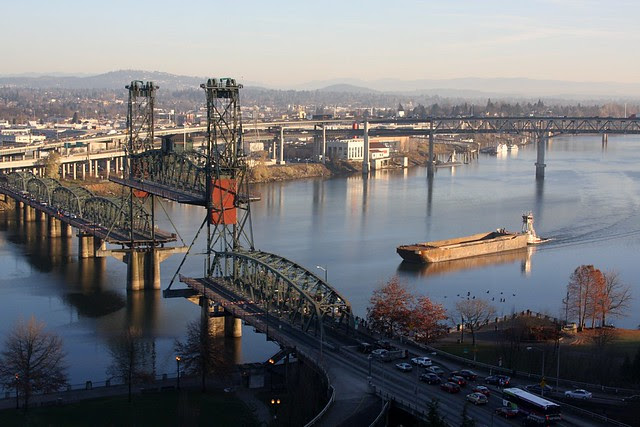 tug & barge, willamette river
