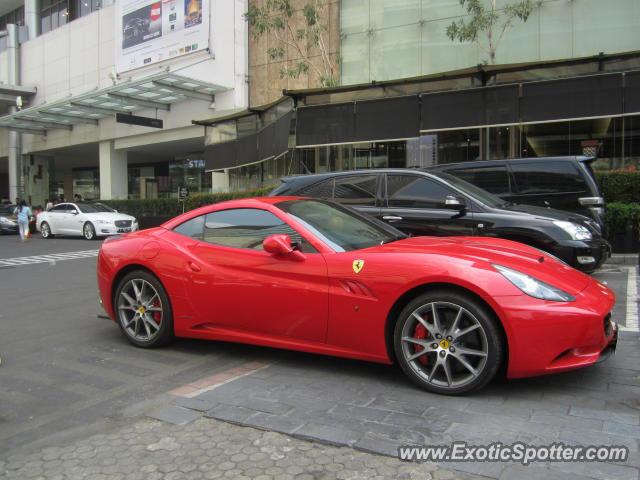 Ferrari California spotted in Jakarta, Indonesia on 08/18/2012
