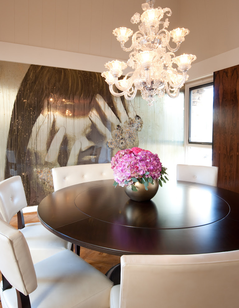 Glamorous Expandable Round Dining Table In Dining Room Modern With Hydrangea Arrangement Next To Hydrangeas Alongside Round Dining Room Table And Round Room