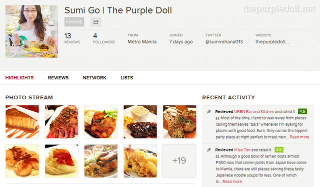 Sumi Go The Purple Doll Zomato