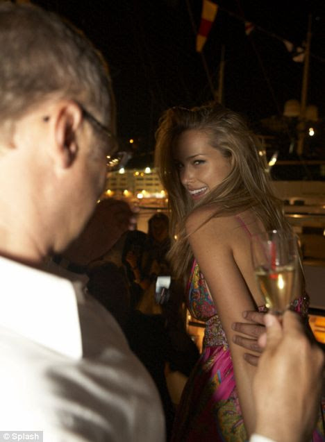 Petra Nemcova at the Vijay Mallya party onboard the Indian Empress in Monaco