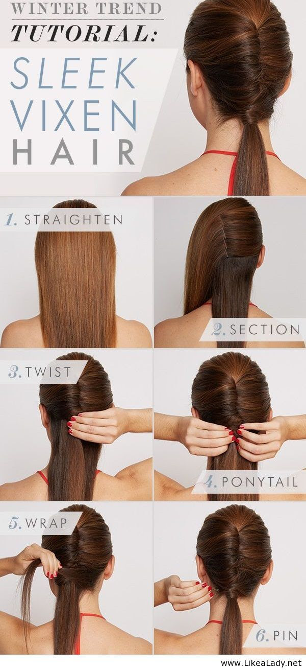How to do a twisted ponytail